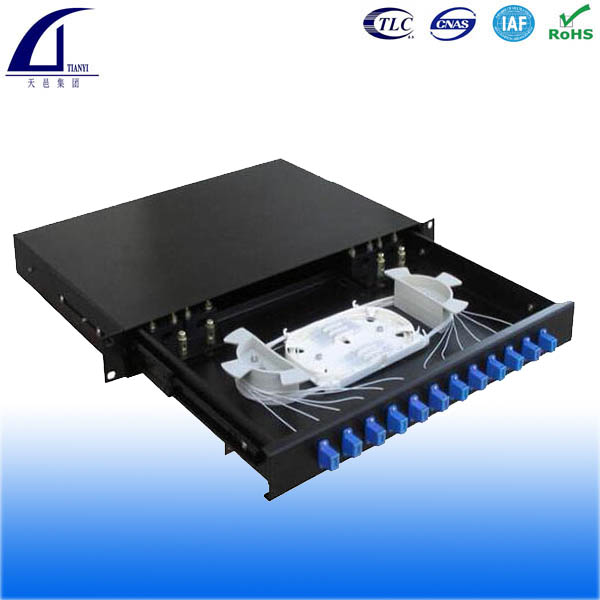 2U 19 inch 48 core Rack Mount Optocal fiber Patch Panel