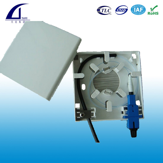 GOM-A 2 ports FTTH Faceplate