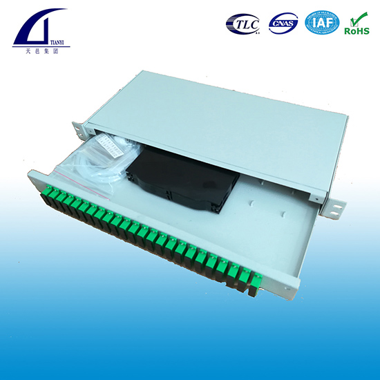 1U 19inch 48 core high density Rack-mount Fiber Patch Panel