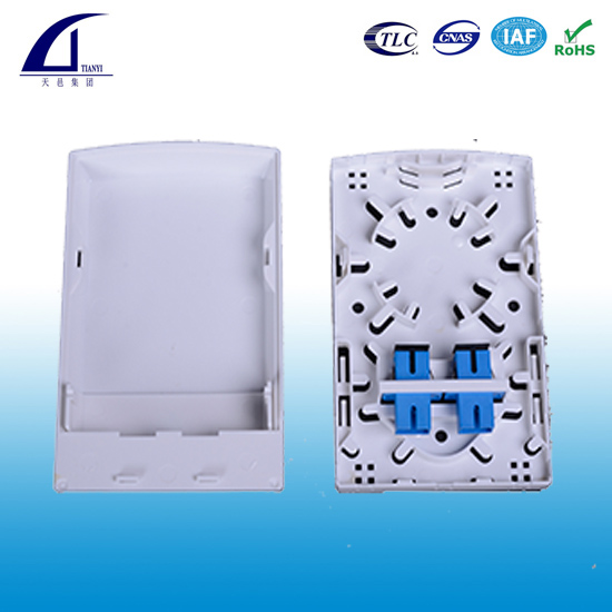 2 ports Fiber Optic Wall Plate Outlet