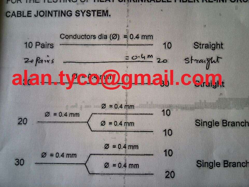 type approval test for heat shrinkable cable jointing material